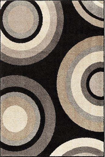 Orian Rugs Trendy Colors Circles Roundtree Multi Area Rug X