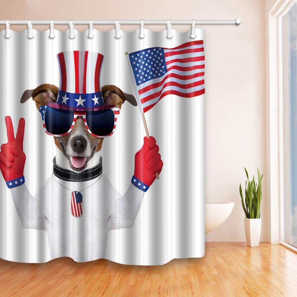 Patriotic Bathroom Shower Curtain--5 Designs | Products | Pinterest ...
