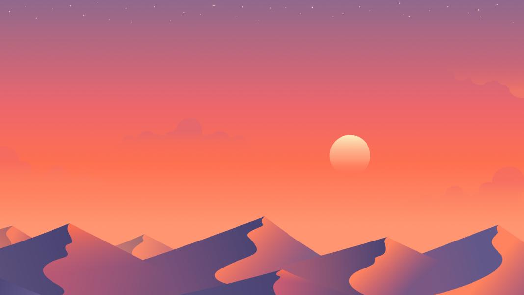 Free Multi Device Desert Dusk Wallpapers Landscape Wallpaper Sunset Wallpaper Wallpaper