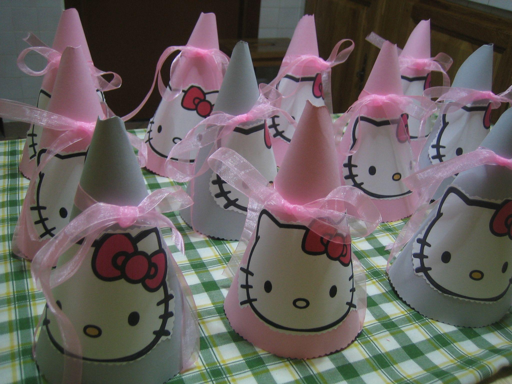 Diy Hello Kitty Party Hats My Diy Pinterest Kitty Party Hello Kitty And Kitty