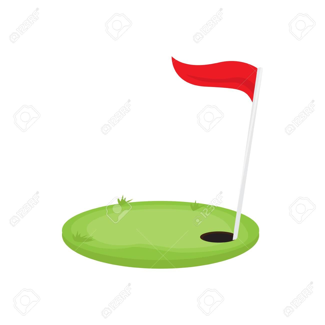 Golf Hole With A Red Flag Vector Illustration Design Illustration Sponsored Red Flag Golf Vector Illustration Design Illustration Design Symbol Logo