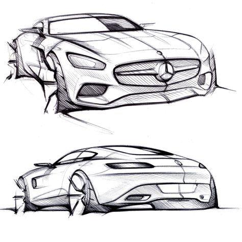 Mercedes Amg Gt Design Sketches With Images Car Design