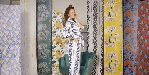 Drew Barrymore Just Released A Gorgeous Line Of Affordable Peel And Stick Wallpaper Peel And Stick Wallpaper Wallpaper Cool Wall Art