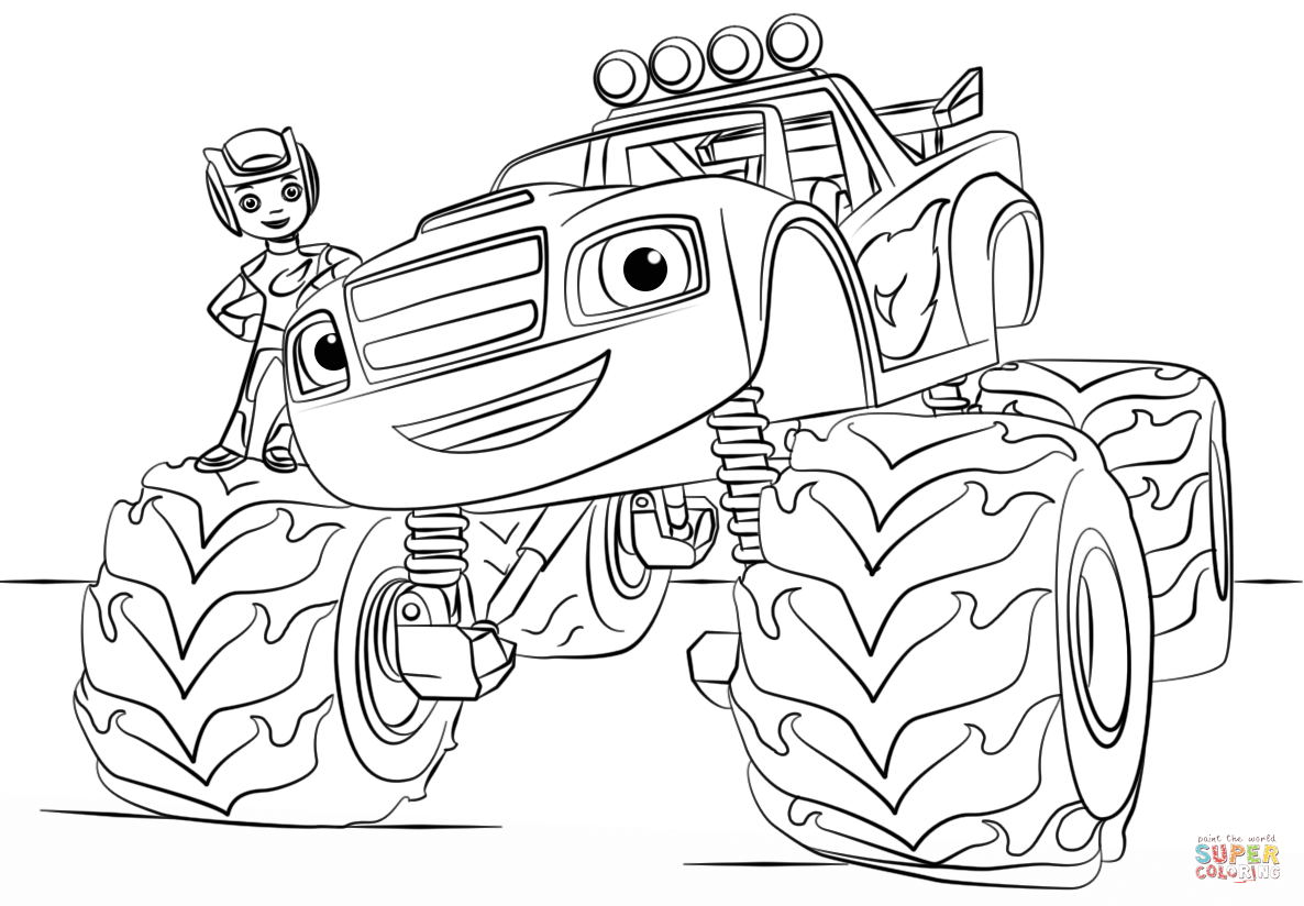 Blaze Monster Truck | Super Coloring | Para mis niños | Pinterest