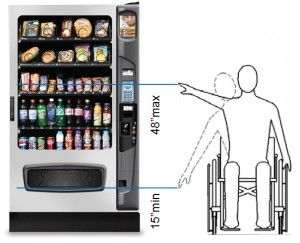 Image result for vending machine height ada
