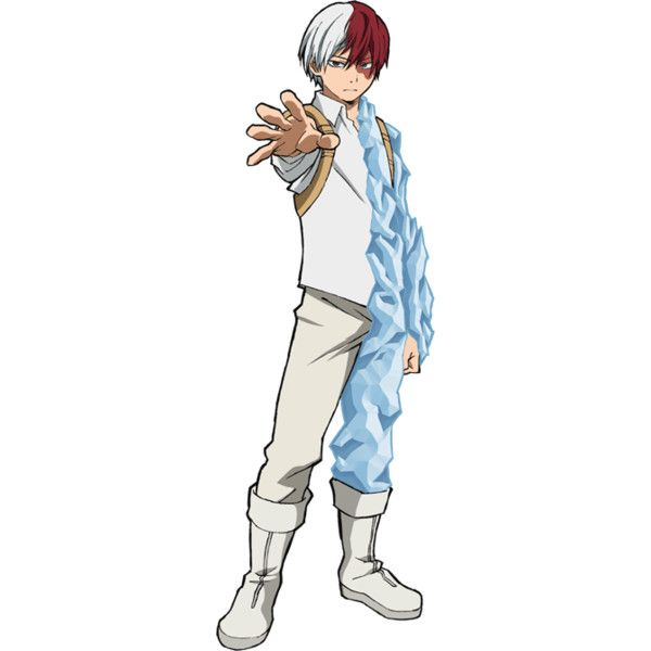 Shouto Todoroki Full Body First Hero Costume Png Liked On Polyvore Featuring Costumes Anime Guys Kawaii Anime Anime Characters