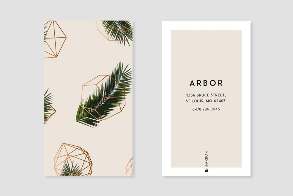 Palm Geometry Business Card Fun Business Card Design Cool Business Cards Landscaping Business Cards