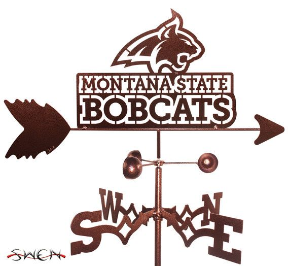 Hand Made Montana State Bobcats Weathervane New by swenproducts