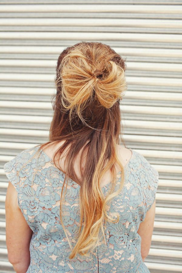 Bow Hairstyle Messy Bow Hairstyle For Bridesmaids  Photojoanna Brown  Hair