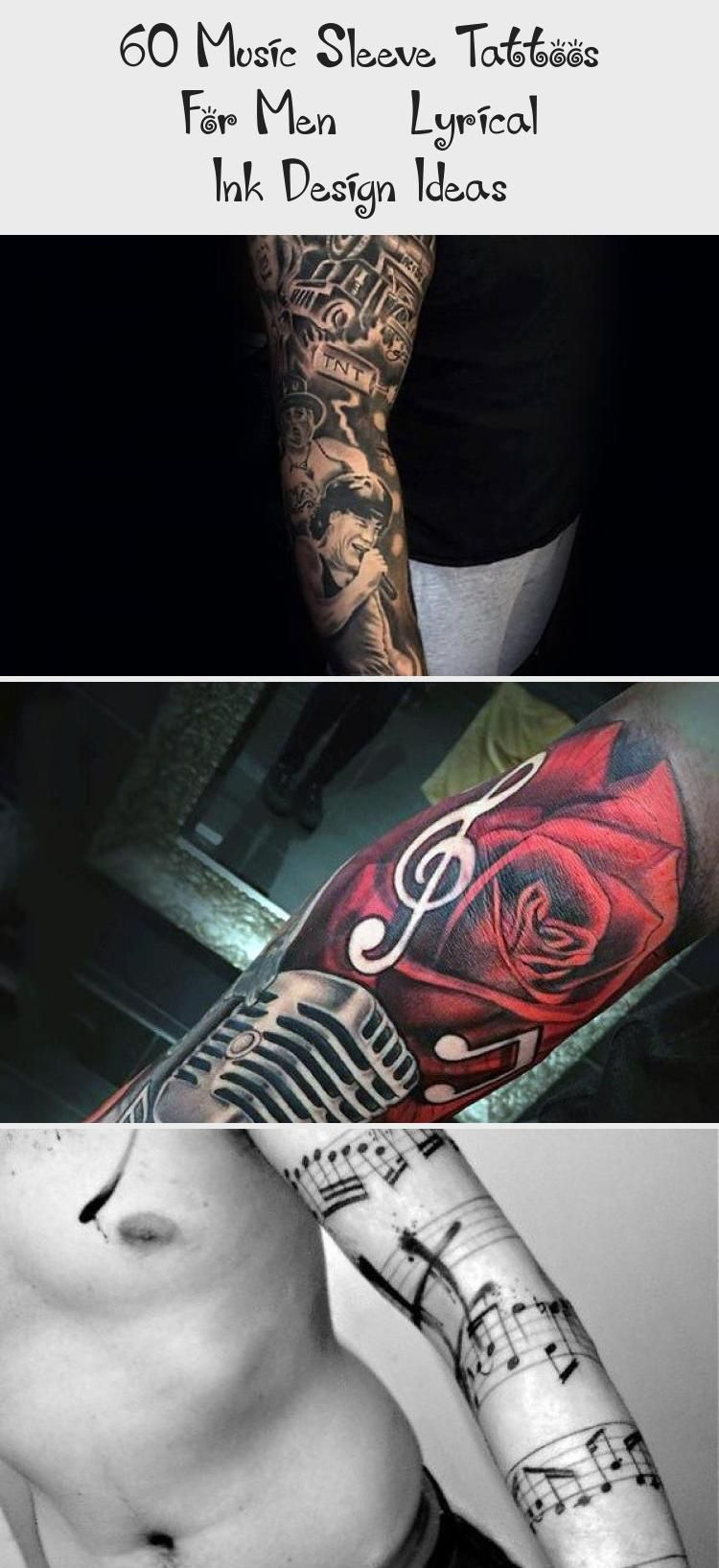 Photo of 60 Music Sleeve Tattoos For Men – Lyrical Ink Design Ideas – Tattoos and Body Art