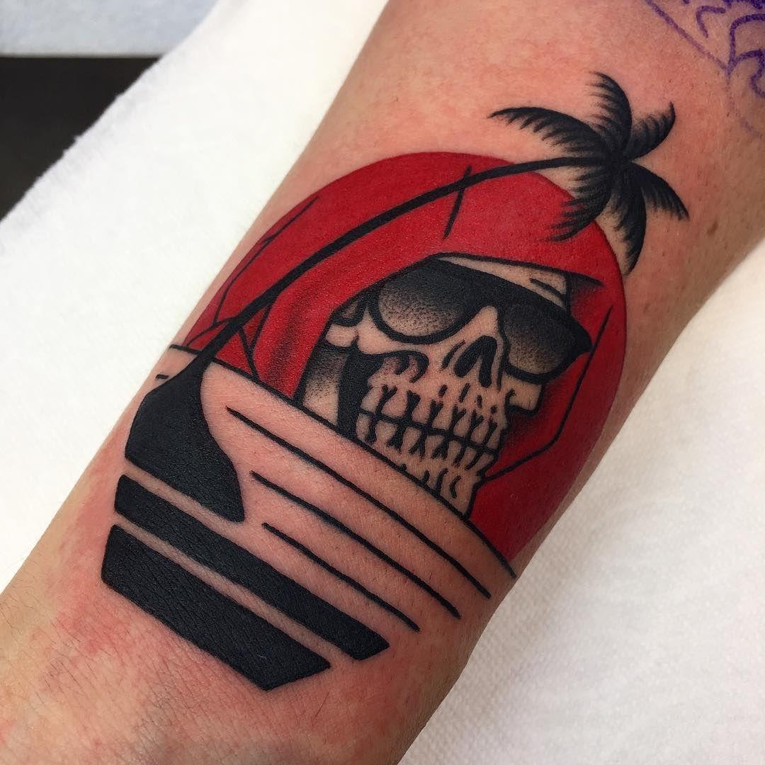 Deathinparadise Traditionaltattoo By Death Cloak Tattoos