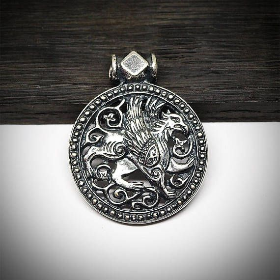 Gryphon necklace gryphon pendant gryphon jewelry fantasy metal gryphon necklace gryphon pendant gryphon jewelry fantasy aloadofball Image collections