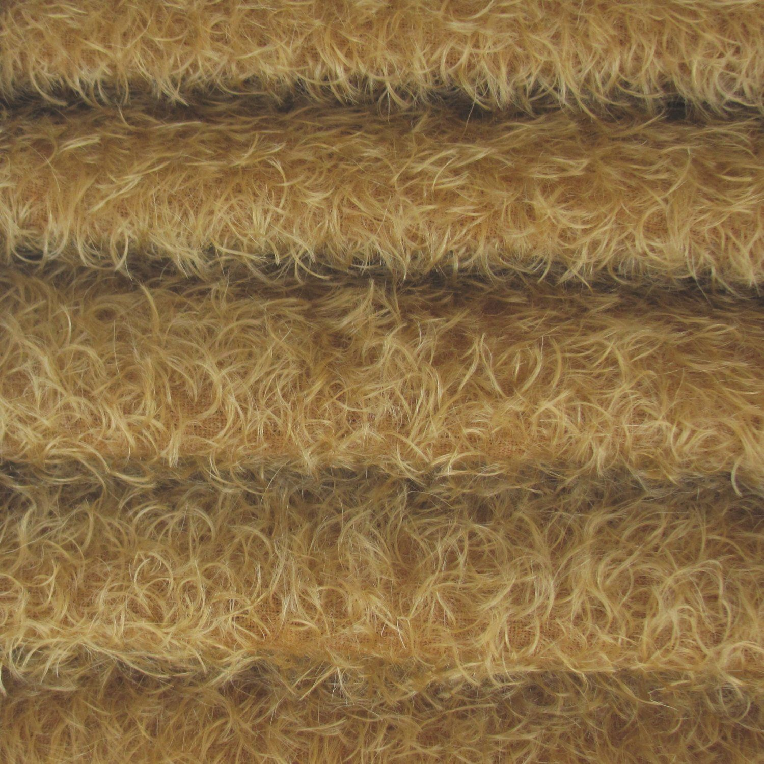 """1//4 yd 325S//CM Mink INTERCAL 5//8/"""" Semi-Sparse Curly Matted Mohair Fur Fabric"""