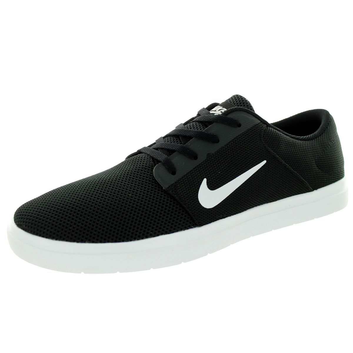 Nike Men's Sb Portmore Renew Black/White/Anthracite Skate Shoe by Nike