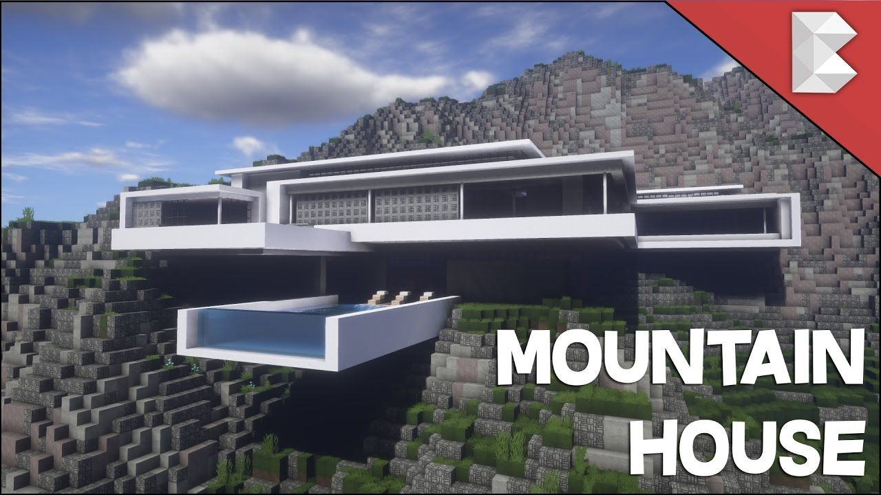 Minecraft modern mountain house infinity pool build tour w keralis