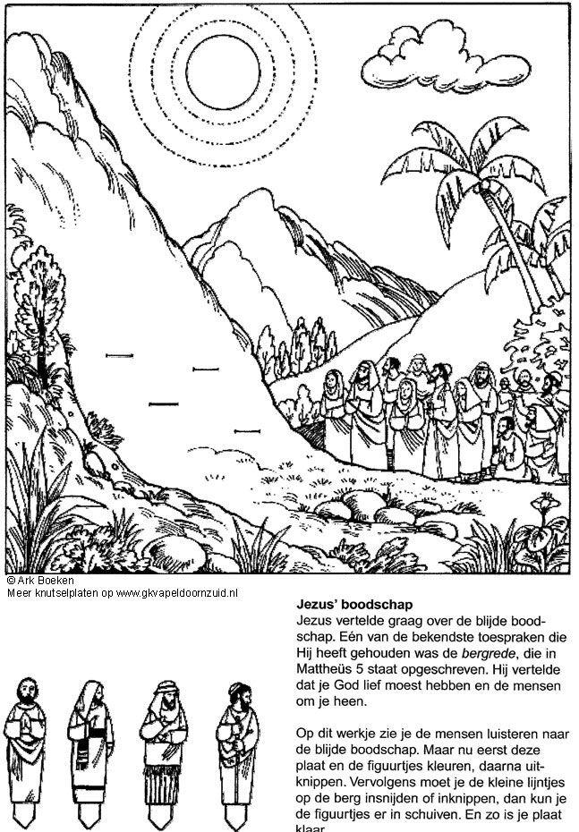 christelijke knutselwerkjes de bergrede werkjes