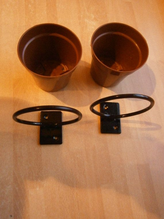 2 X 4 Plant Pot Holders Wrought Iron Forged