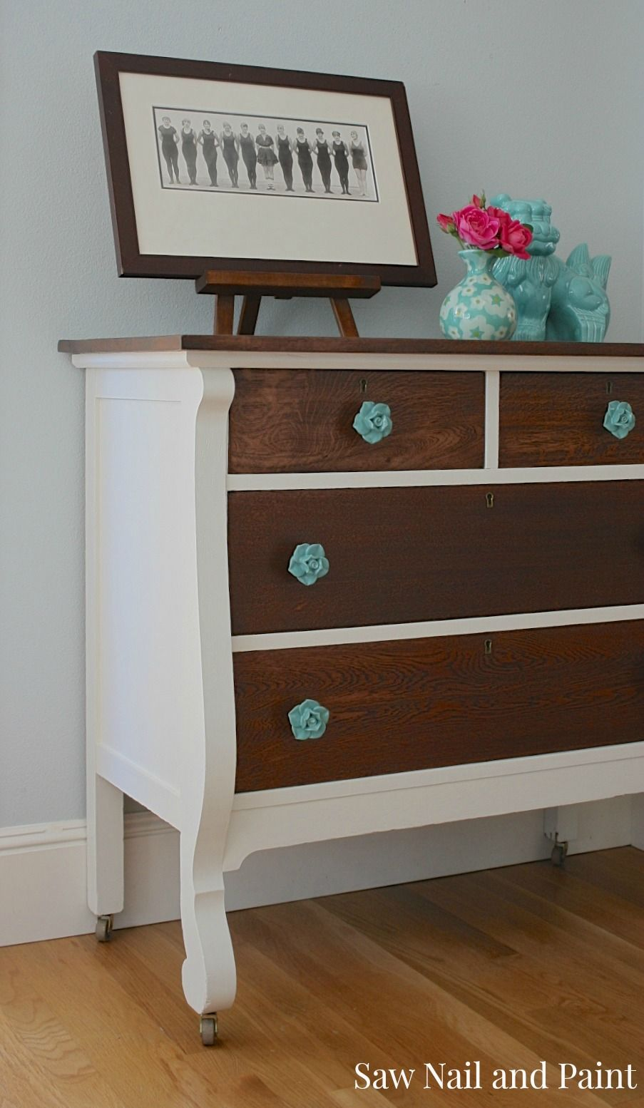 Two Tone Vintage Rose Dresser Furniture Furniture