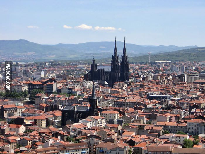 The black cathedral in Clermont Ferrand, France Pinterest