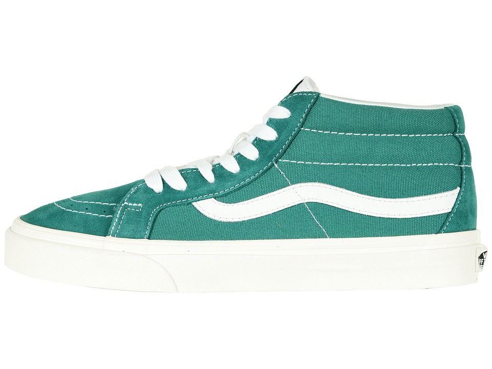 295eb49547 Vans SK8-Mid Reissue Skate Shoes (Retro Sport) Cadmium Green Vans Sk8 Mid