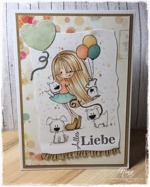 """Alles Liebe"", Tiddly Inks, Digistamp"