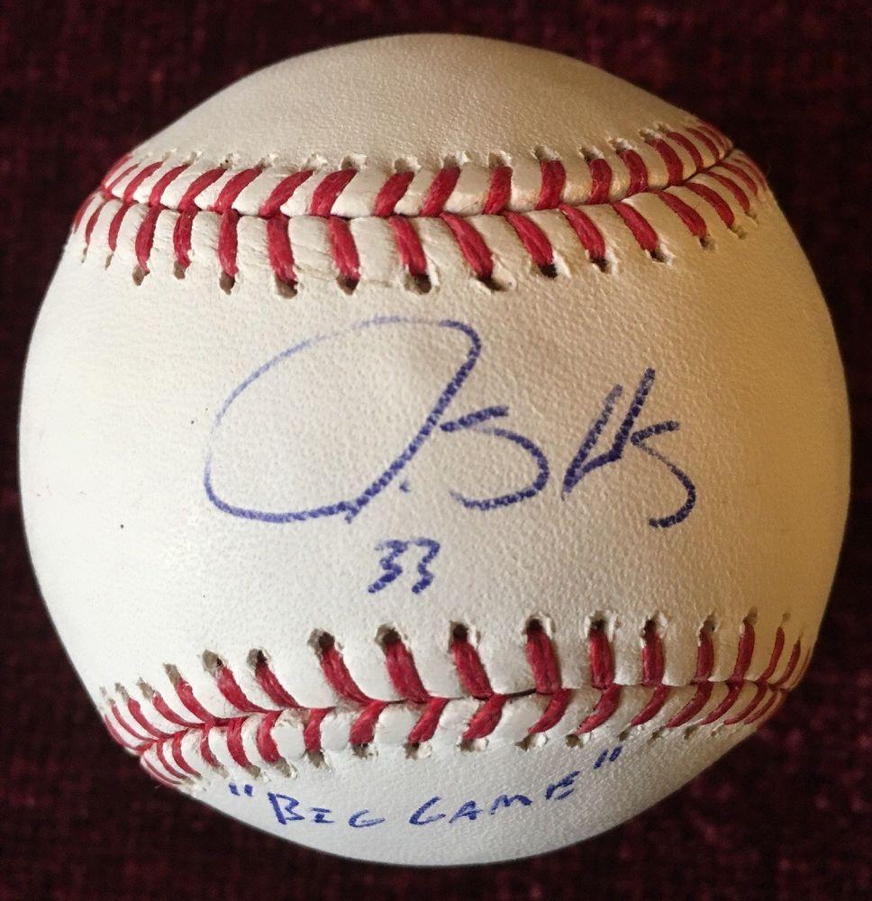 James Shields Big Game Signed Auto Autographed Mlb Baseball Tampa Bay Rays Mlb Baseball Autograph Tampa Bay Rays