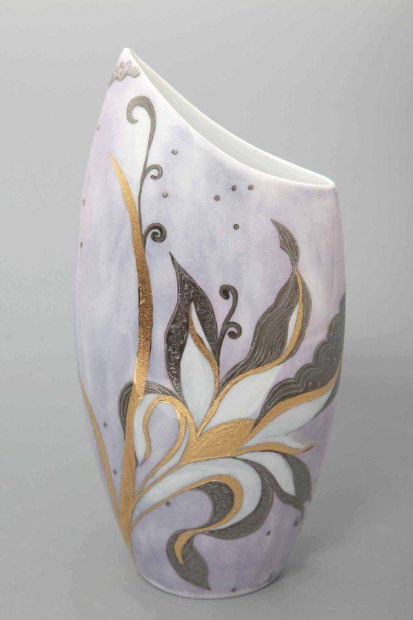 vase bleu vendu | peinture sur porcelaine | pinterest | porcelaine