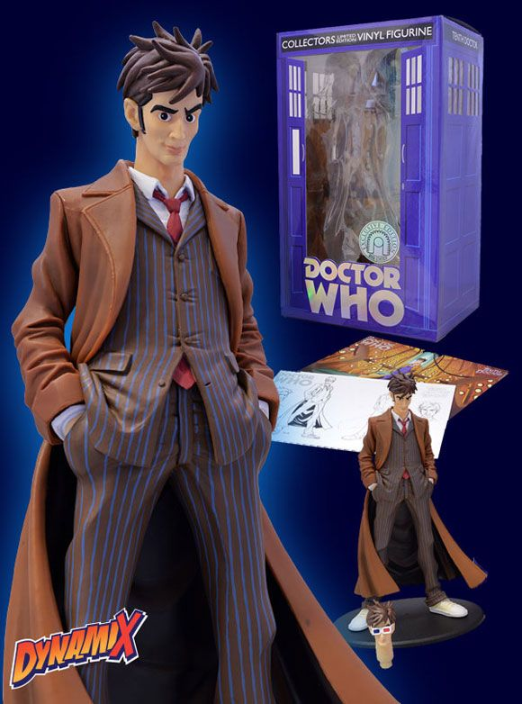 Exclusive 10th Doctor Dynamix Vinyl Figurine Doctor Who Doctor Who 10 10th Doctor