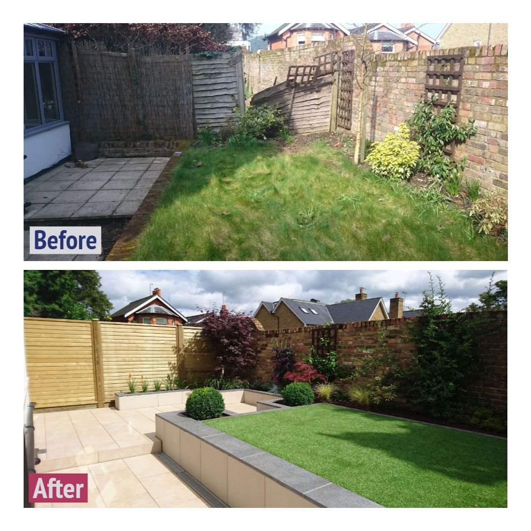Pin on backyard landscaping before and after