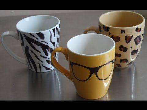 Ideas para personalizar las tazas ¡Fácil y llamativo! http://ini.es/1yRnnNk #DecorarTazas, #Manualidades, #PersonalizarLasTazas