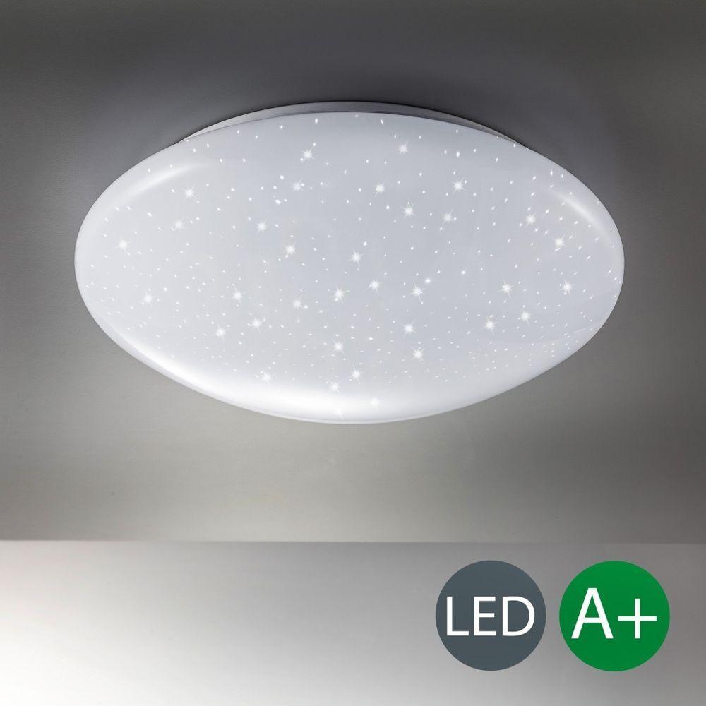 LED Decken Leuchte Sternen Licht Glitzer Lampe Badleuchte