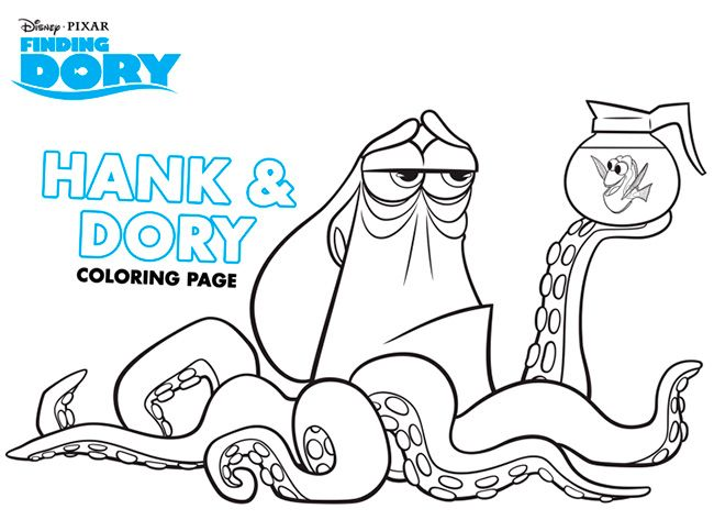 Printable Finding Dory Coloring Pages Connect The Dot And Maze Activities