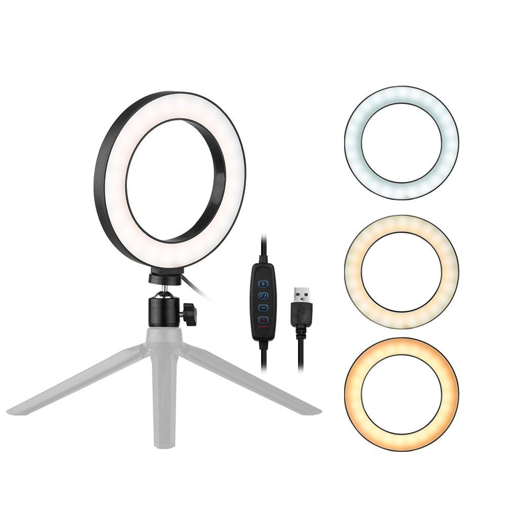 Free 2 Day Shipping Buy 6 Inch Desktop Led Ring Light 3200k 5500k Dimmable Mini Camera Light Lamp 3 Light Modes 10 Brigh In 2020 Led Ring Light Led Ring Camera Lamp