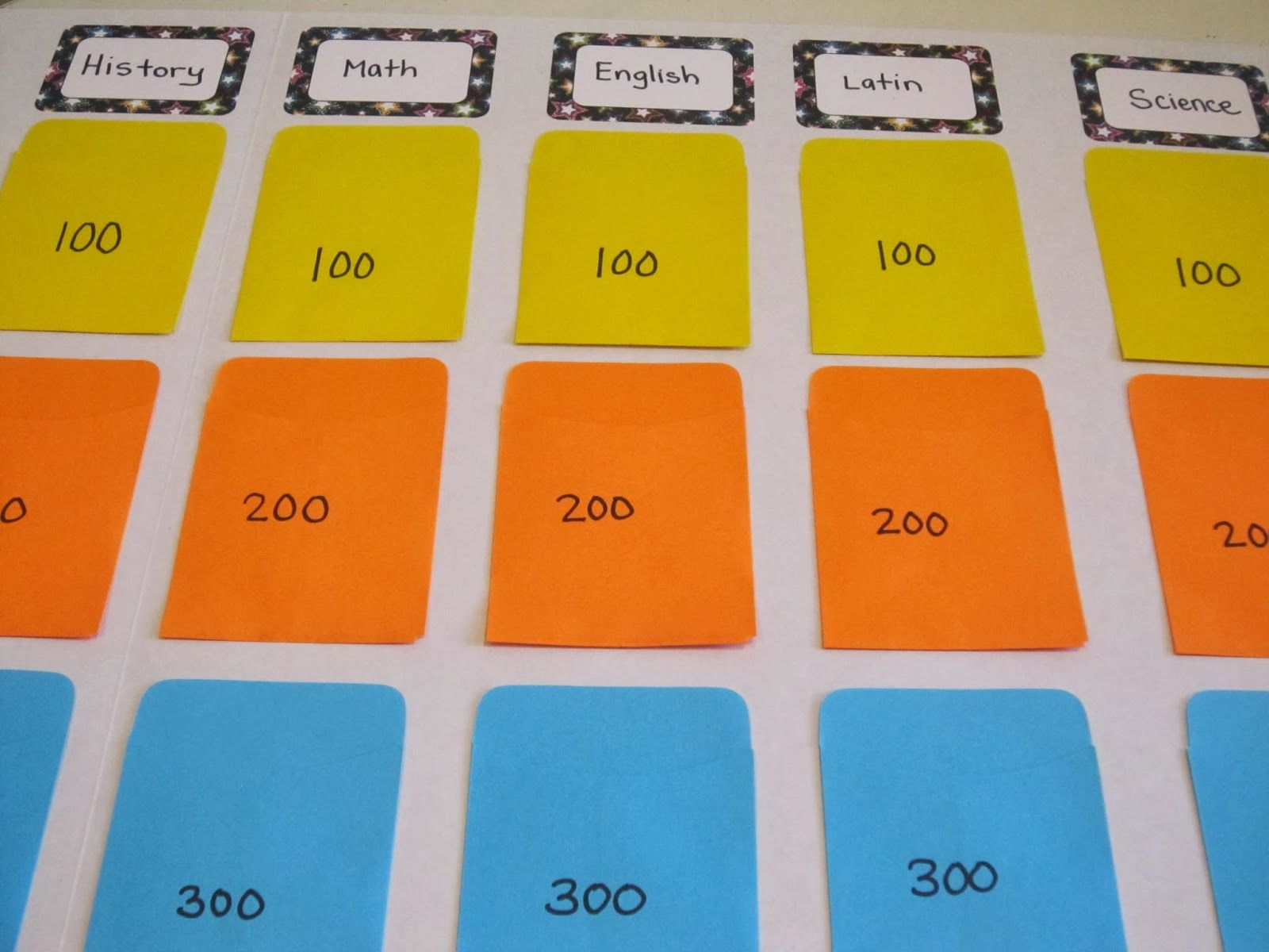 Diy jeopardy board diy jeopardy board game templates for Kids jeopardy template