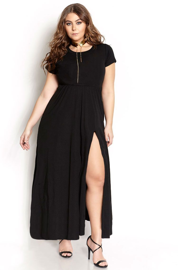 1331679070f Show Me The Money   High Slit Bodycon Maxi Dress With Pockets -FINAL