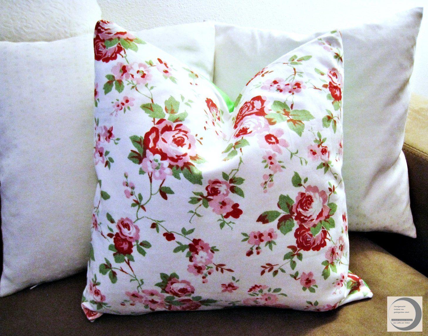 Pillowcase 40 X 40 Cm 15 75x15 75 Pillow Case With Rose Pattern Zipper Rosenmuster Kissenbezug 40x40 Und Kissenbezuge