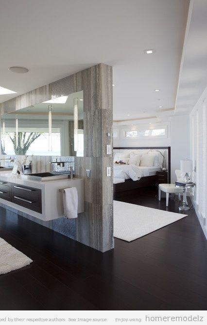 Ein Raum, zwei Funktionen: Schlaf- und Badezimmer in einem ...