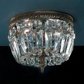 Clic Lighting Crystal Baskets 8 In W Roman Bronze Flush Mount Light 52208 Rb
