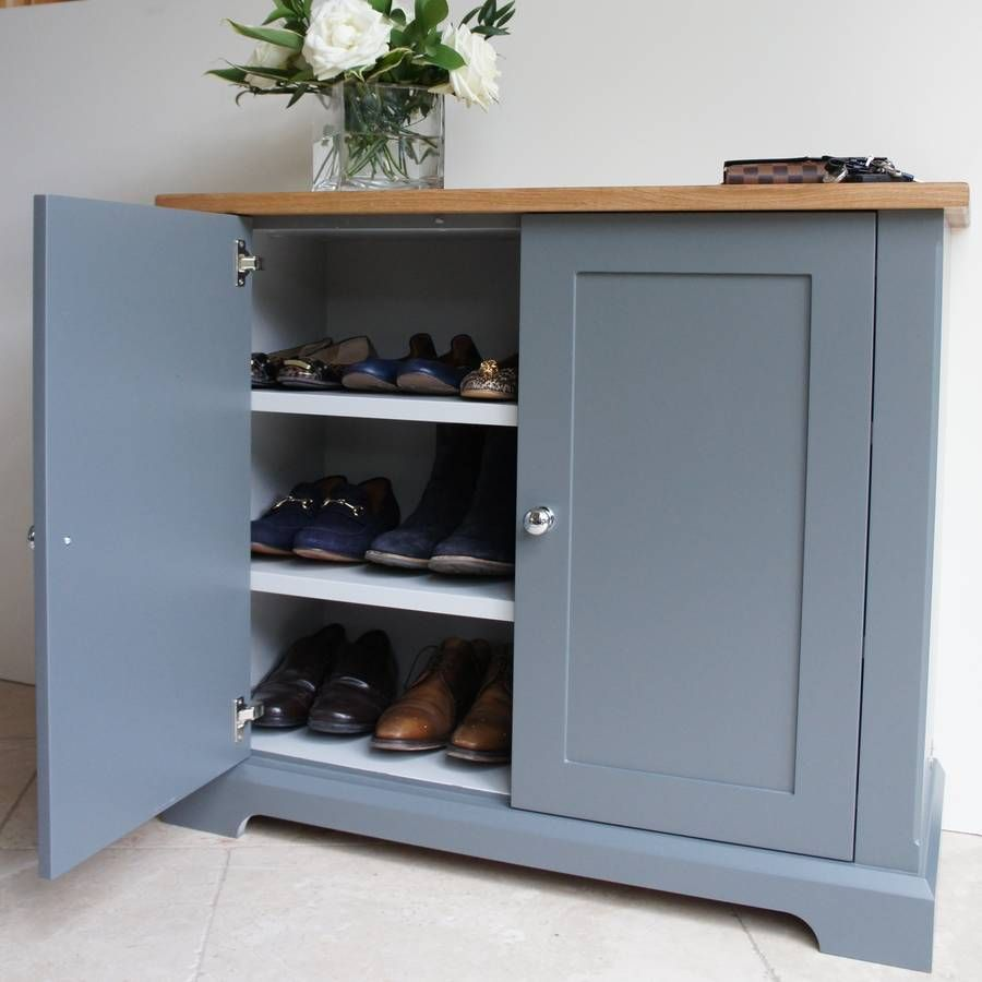 Hall Cupboards Furniture ashford slimline shoe cupboard in a choice of colours | cupboards