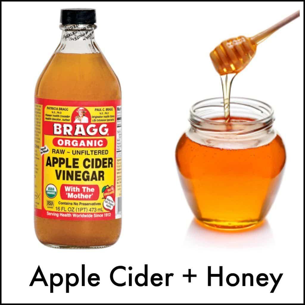 Drink 3 Cups A Day: 1 Teaspoon Raw Honey 1 Teaspoon Apple