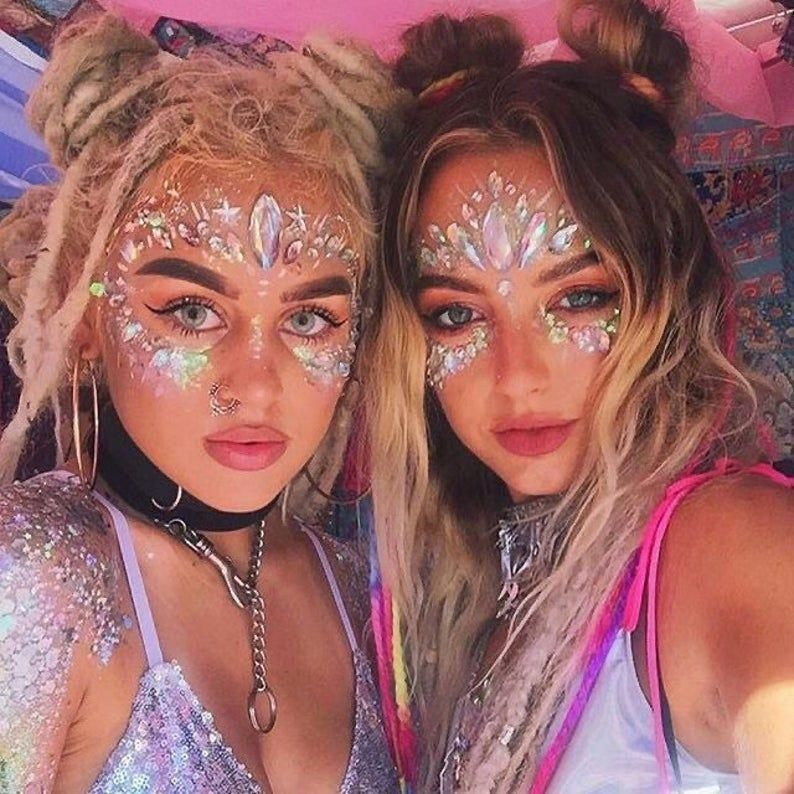Festival Face Jewels Crystal Body Stickers Make Up