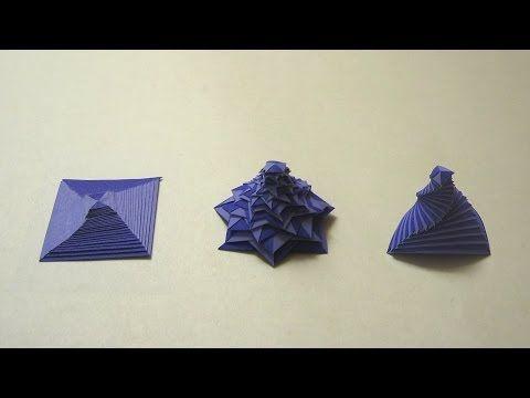 Origami Instructions: Single Strip Square Curlicue (Assia Brill) - YouTube