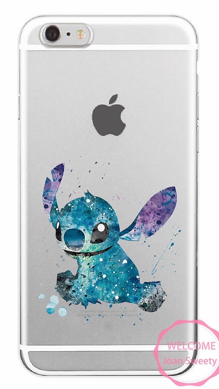 7 90 Case Iphone Watercolor Lilo And Stitch M01 Coque
