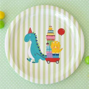 Dinosaur Large Round Party Plate