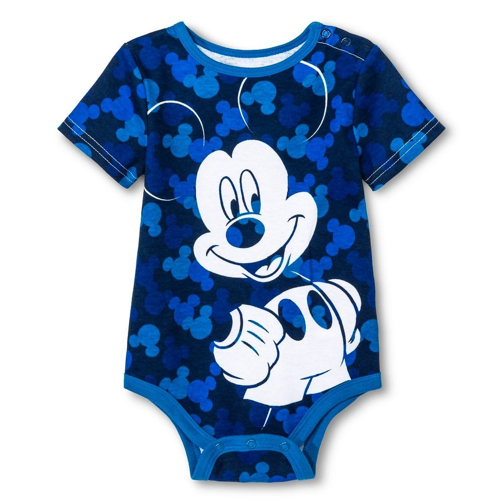 6bac5ef45a77 Disney Mickey Mouse Newborn Boys  Bodysuit - Blue 12M