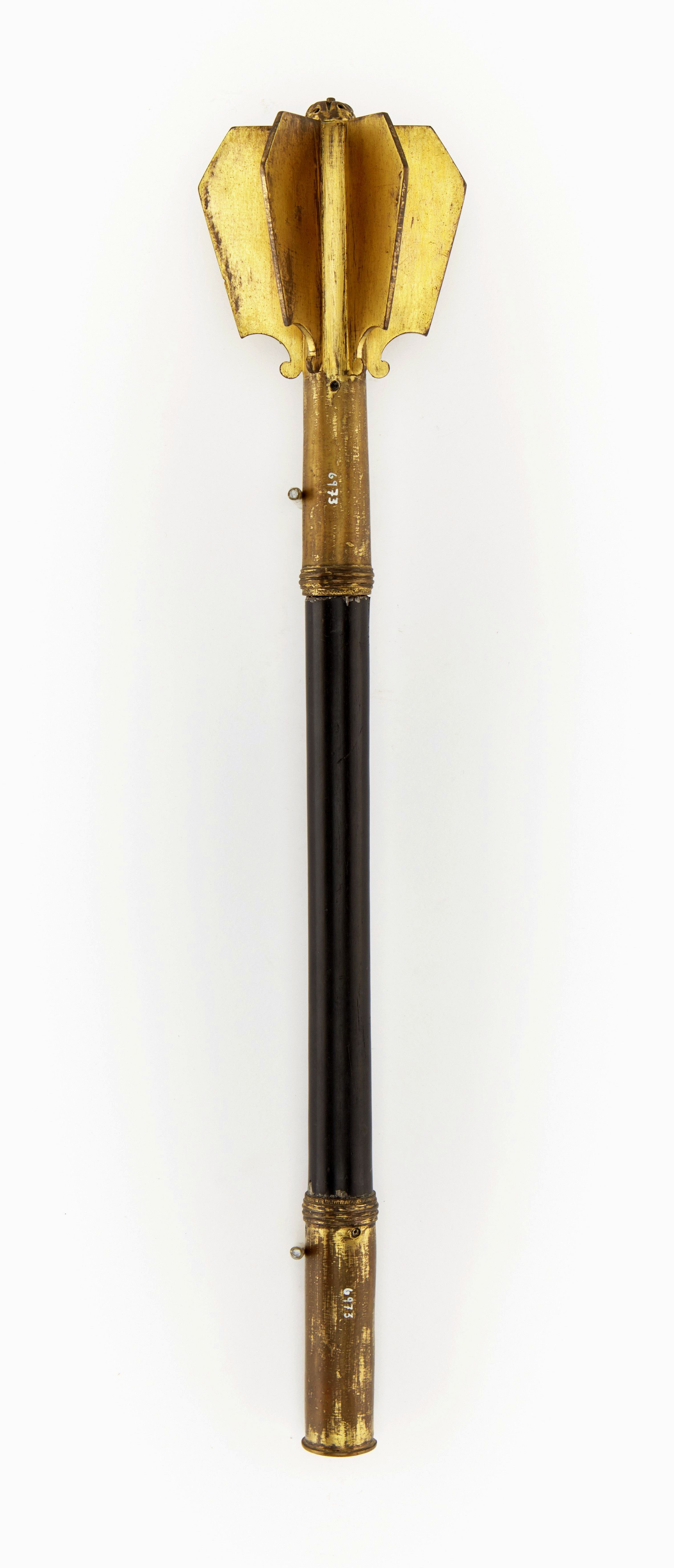 Mace of gilded brass by Anonymous from Poland or Central Europe, beginning of the 17th century, Skoklosters slott