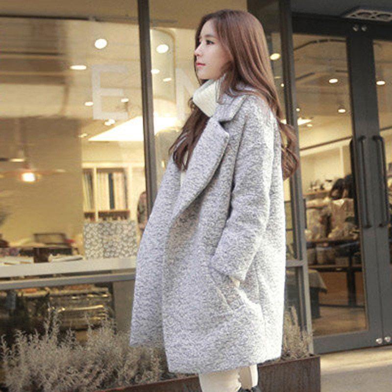 2bda9cf9b3163 On Sale Brand Winter Coat Women Warm Cotton-padded Wool Coat Long Women s  Cashmere Woolen