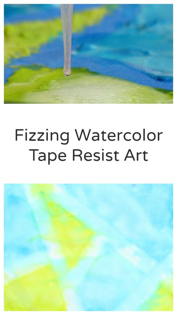 Fizzing Watercolor Tape Resist Art Art For Kids Science Art