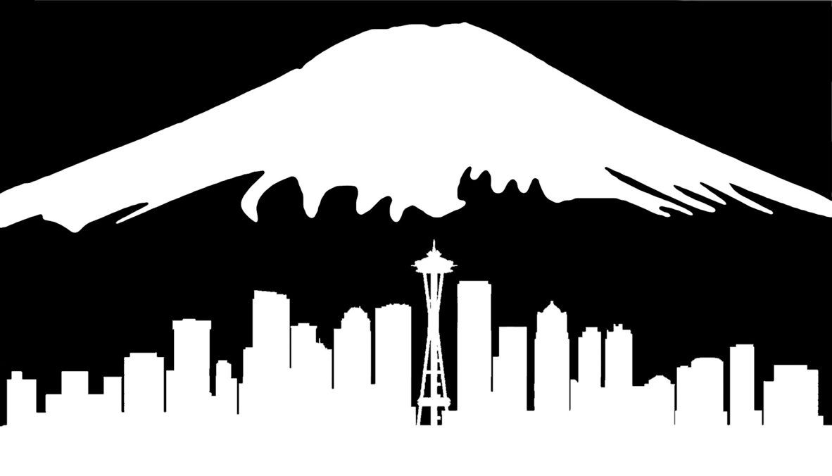 Seattle Car Auction >> Image result for mt rainier silhouette | Woodworking Ideas | Clip art, Silhouette, Pyrography