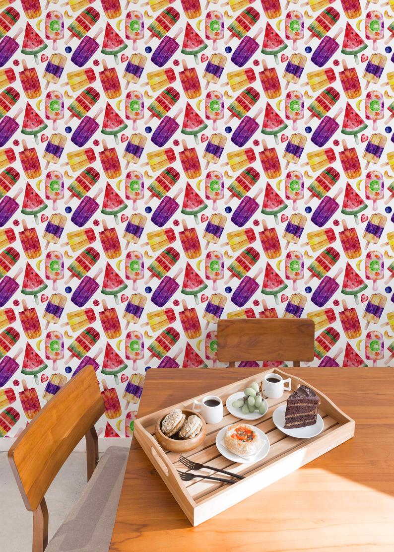 Candy Wallpaper Removable Wall Decor Peel and Stick   Etsy